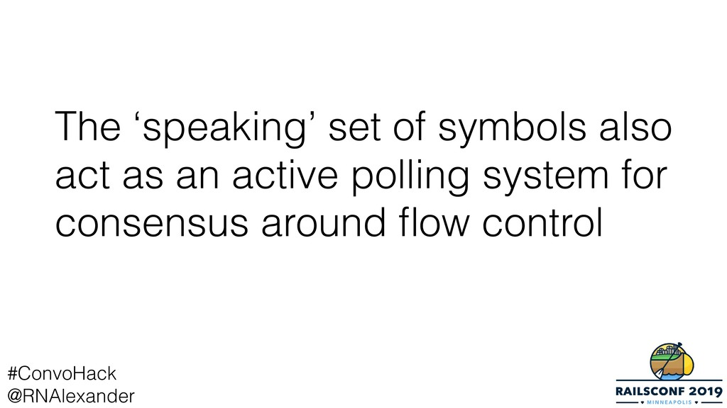The 'speaking' set of symbols also act as an ac...