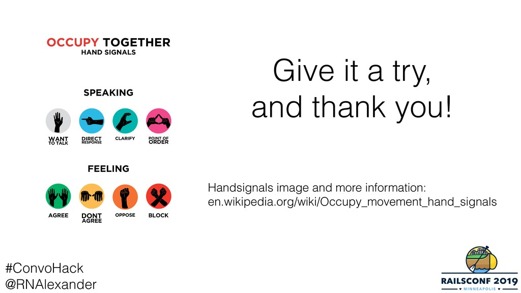 Give it a try, and thank you! Handsignals image...