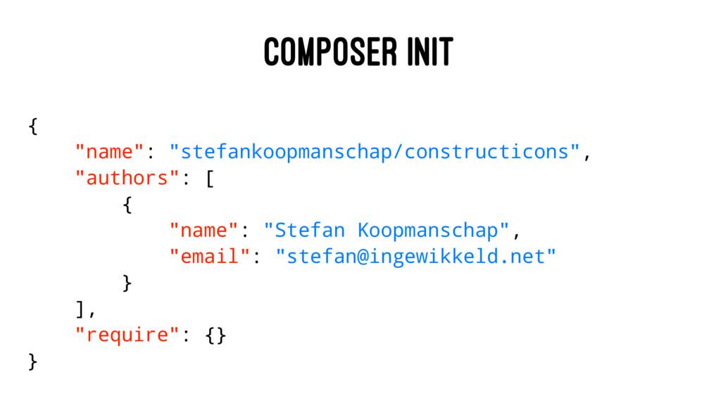 "COMPOSER INIT { ""name"": ""stefankoopmanschap/con..."