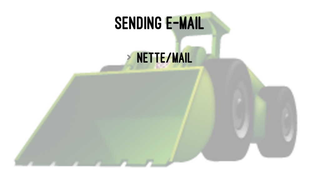 SENDING E-MAIL > nette/mail