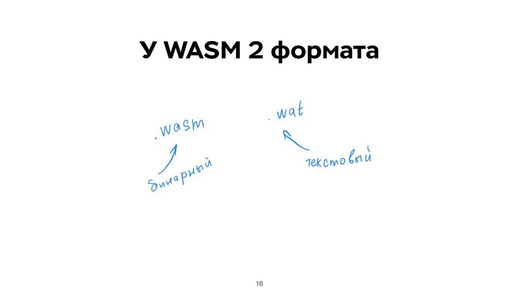 У WASM 2 формата 16