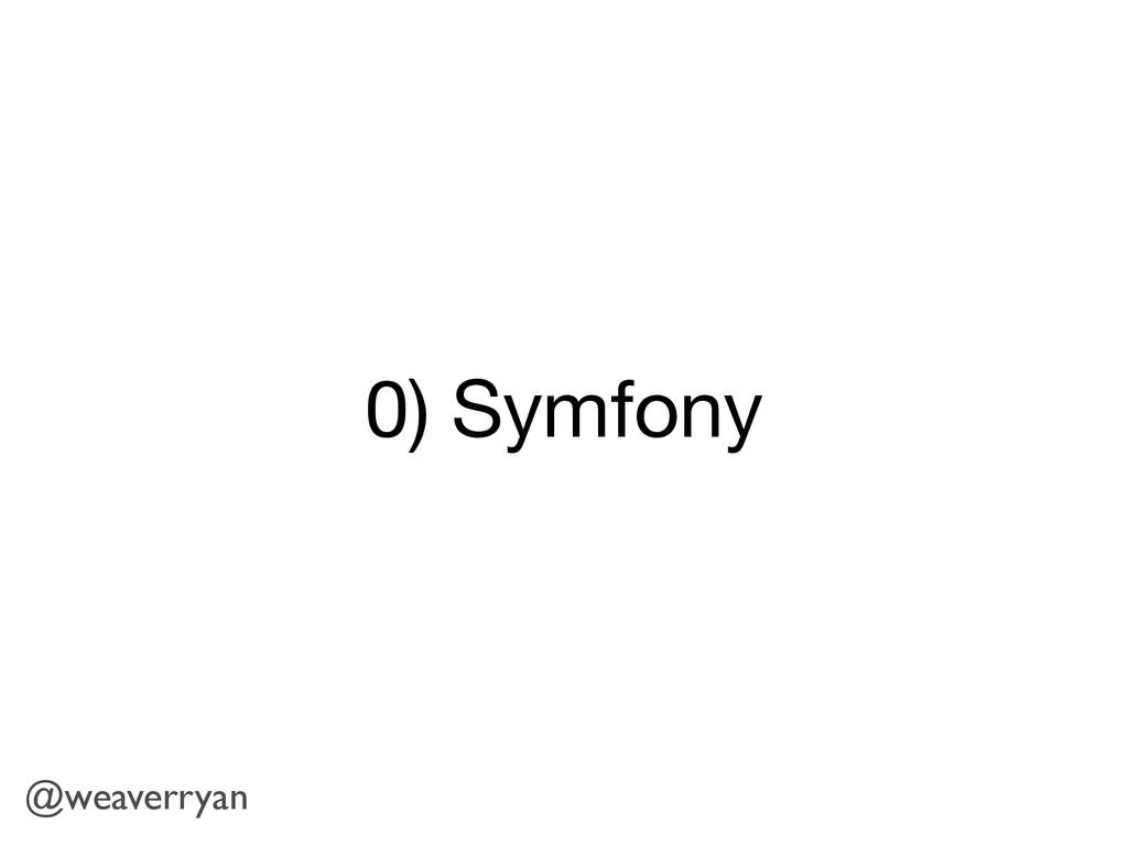 0) Symfony @weaverryan