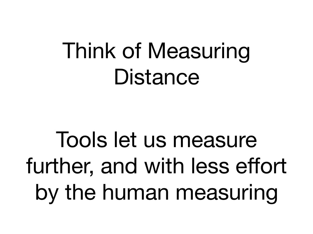 Think of Measuring Distance Tools let us measur...