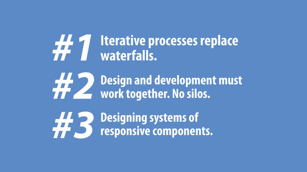 #1 Iterative processes replace waterfalls. Desi...