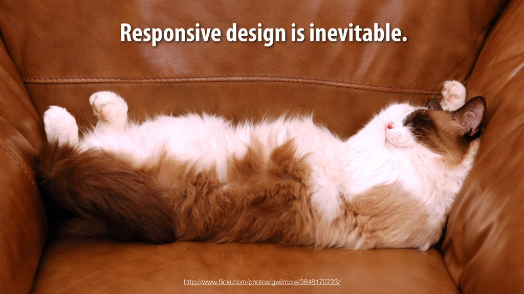 Responsive design is inevitable. http://www.flic...