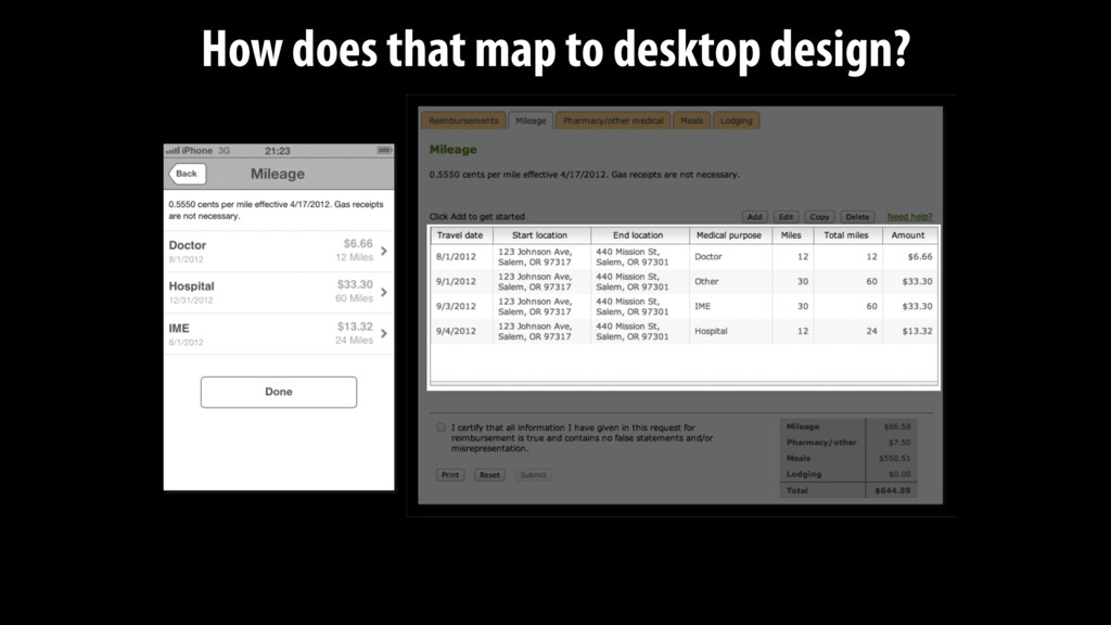 How does that map to desktop design?