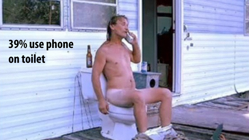 39% use phone on toilet