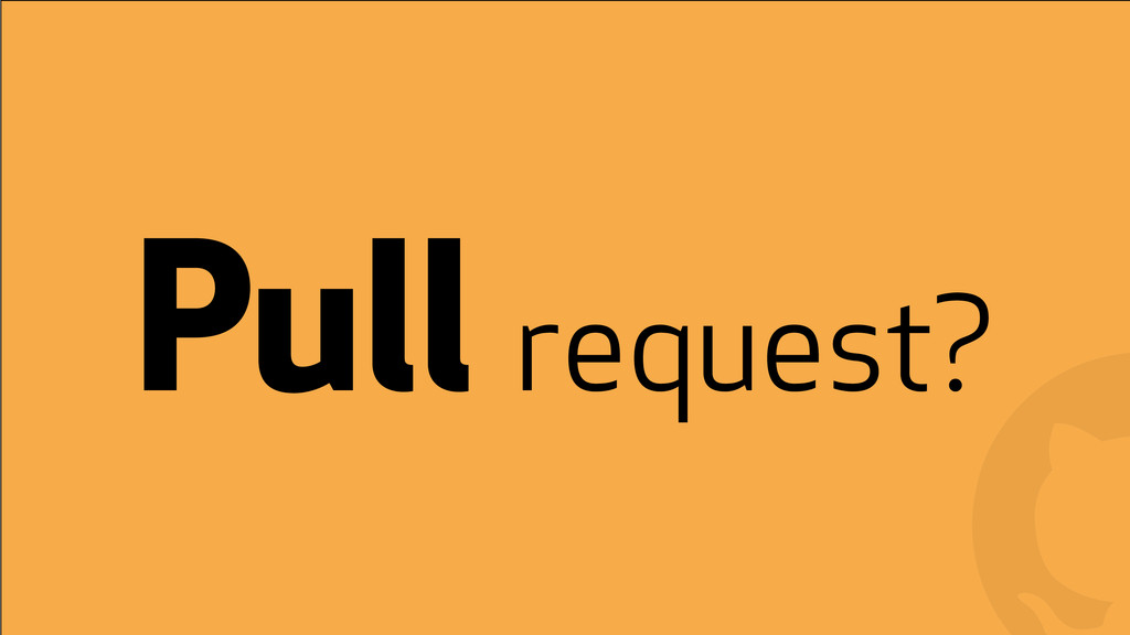 ! ! Pull request?