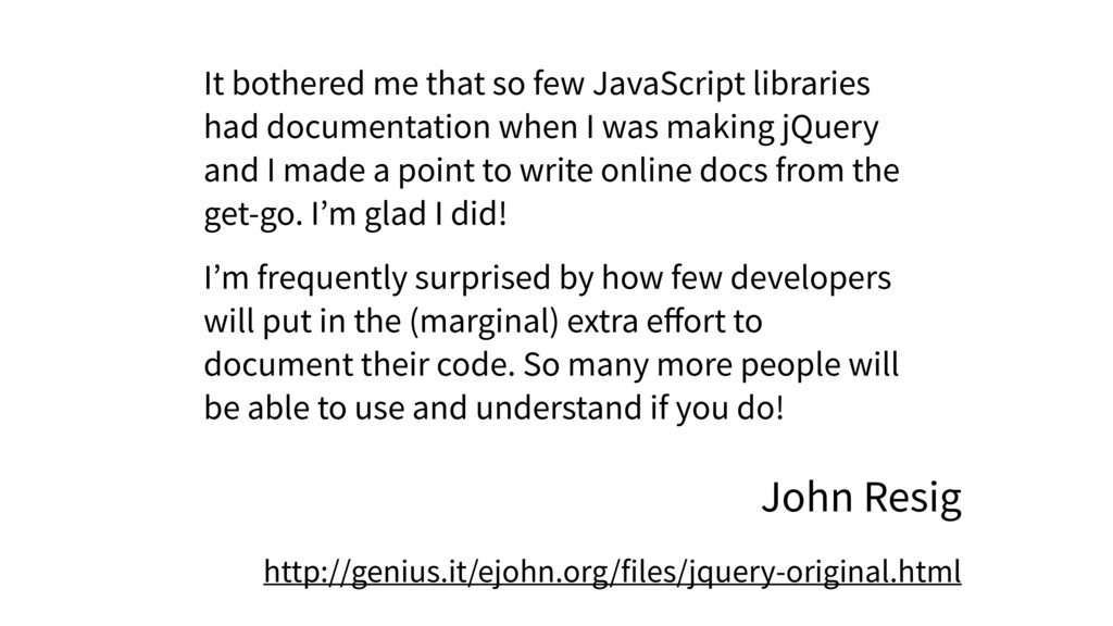 It bothered me that so few JavaScript libraries...