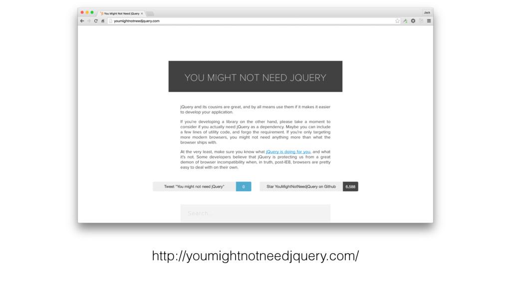 http://youmightnotneedjquery.com/
