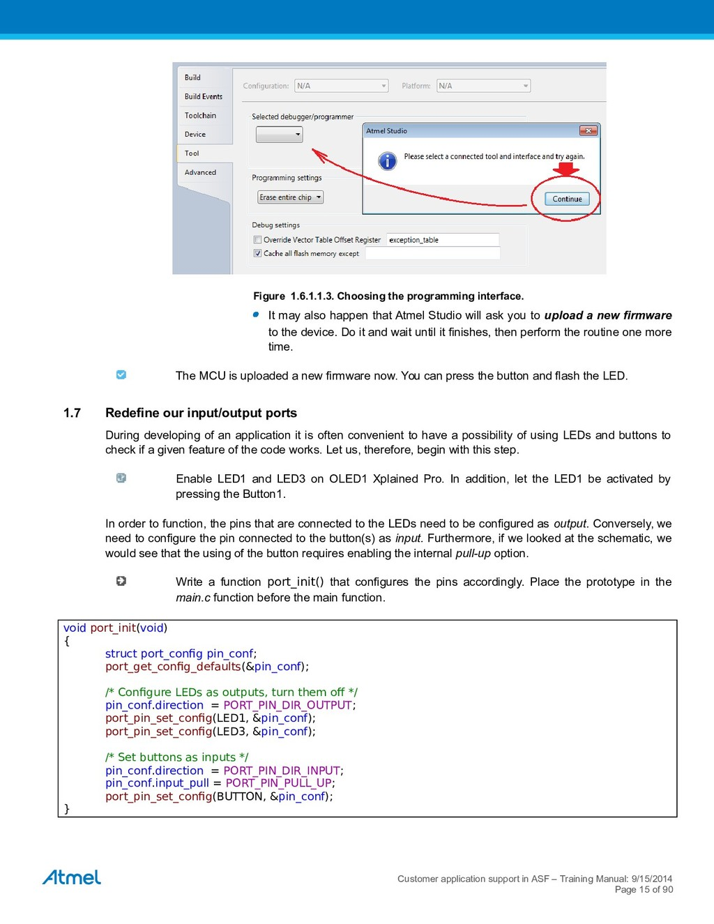 Figure 1.6.1.1.3. Choosing the programming inte...