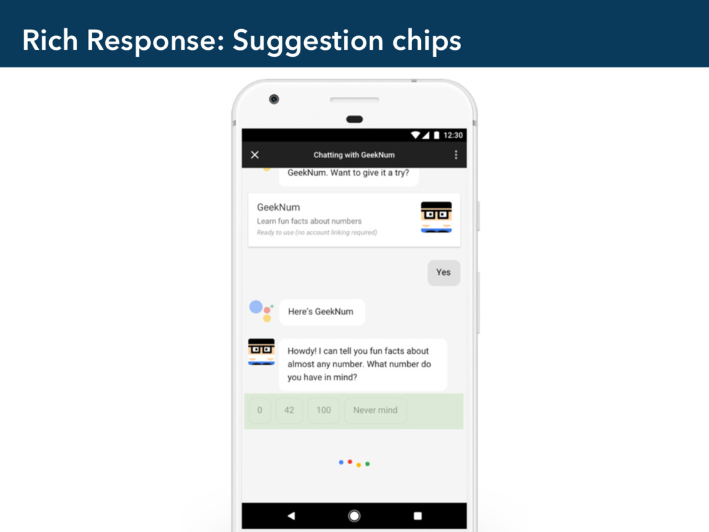 Rich Response: Suggestion chips