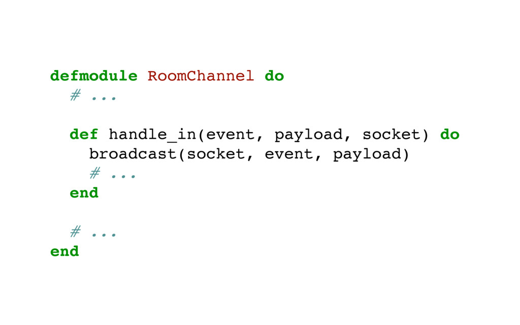 defmodule RoomChannel do # ... def handle_in(ev...