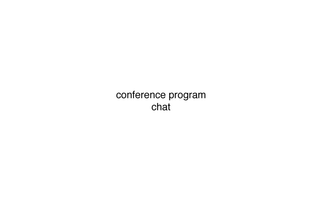 conference program chat