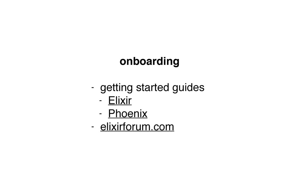 onboarding - getting started guides - Elixir - ...