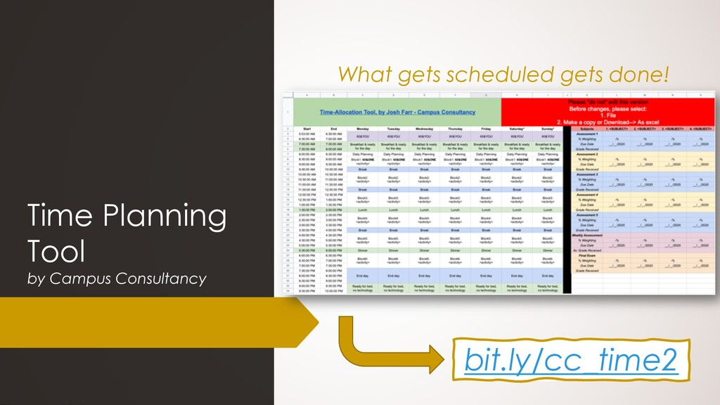Time Planning Tool by Campus Consultancy bit.ly...