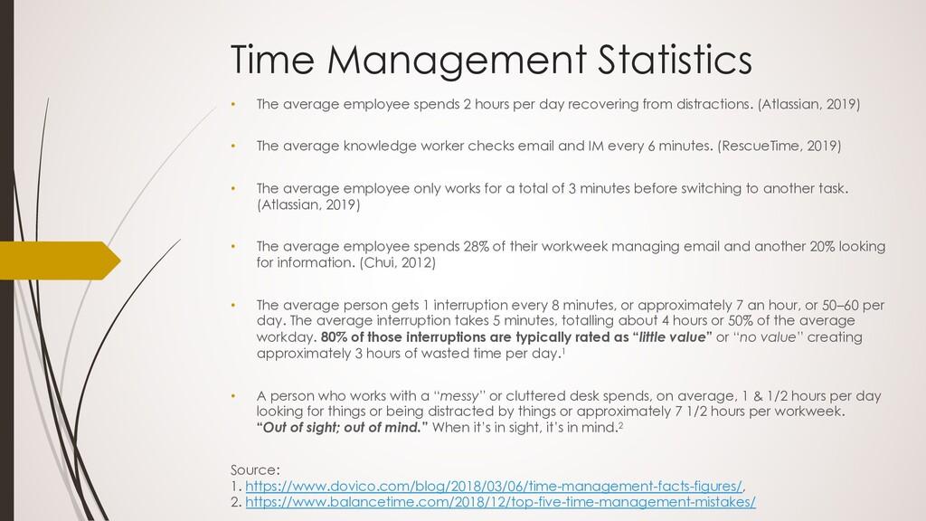 Time Management Statistics • The average employ...