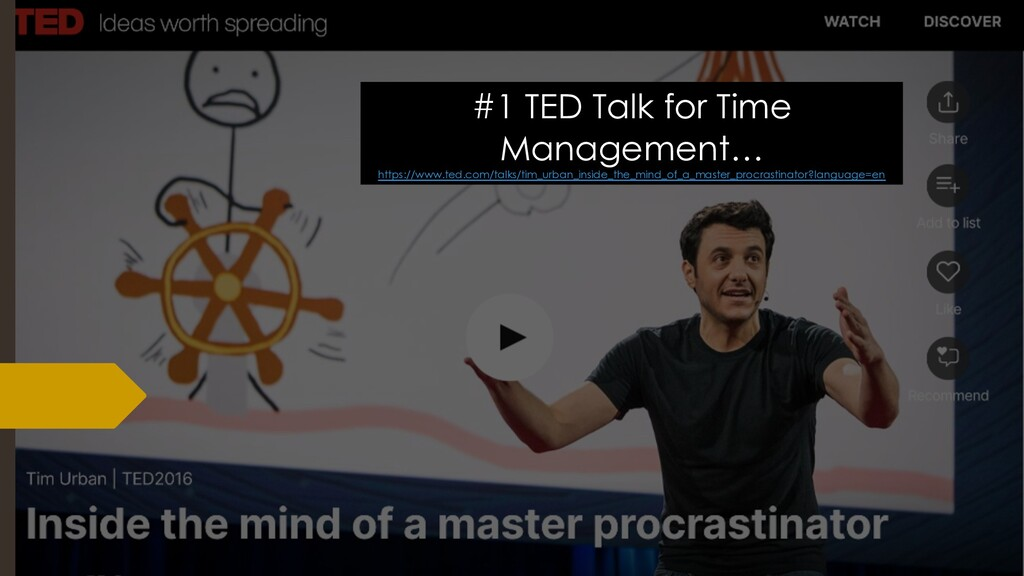 #1 TED Talk for Time Management… https://www.te...