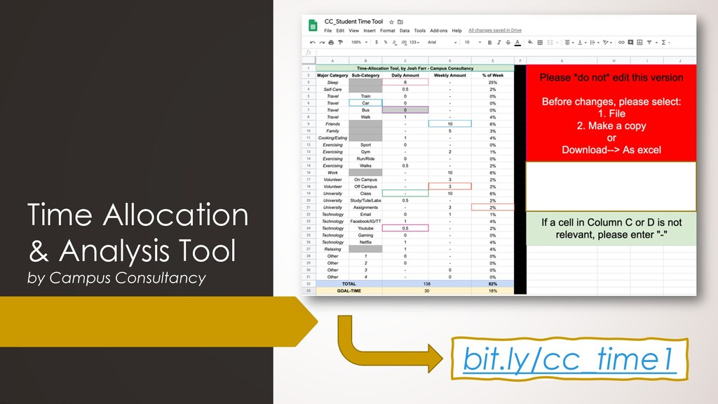 Time Allocation & Analysis Tool by Campus Consu...