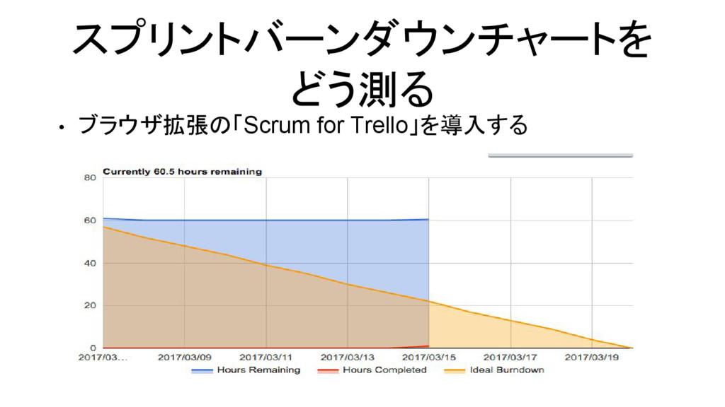 スプリントバーンダウンチャートを どう測る • ブラウザ拡張の「Scrum for Trell...