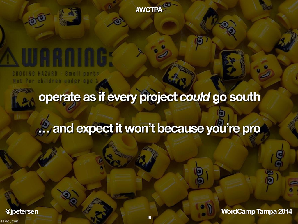 @jpetersen WordCamp Tampa 2014 #WCTPA operate a...