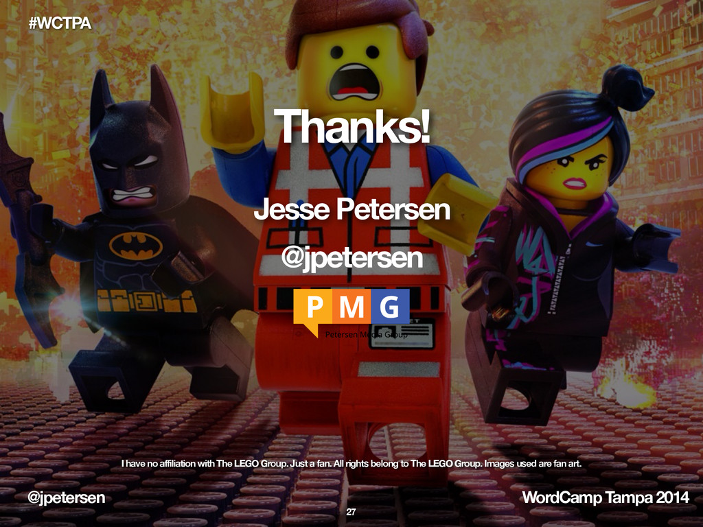 @jpetersen WordCamp Tampa 2014 #WCTPA Thanks! J...