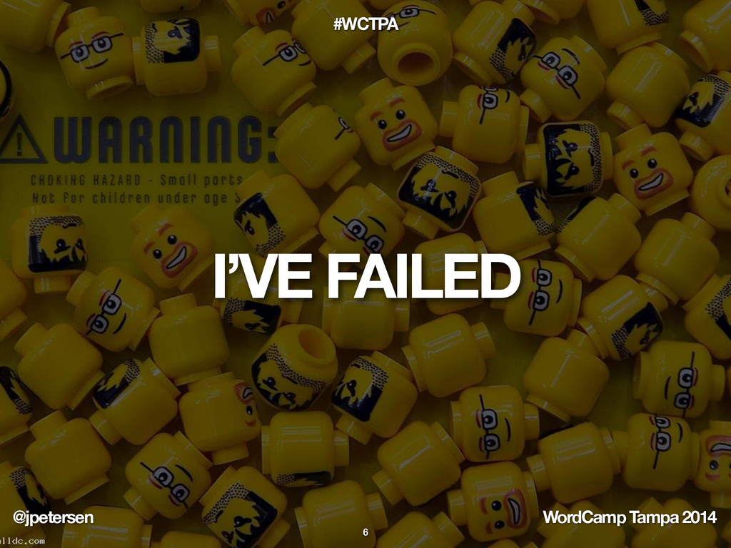@jpetersen WordCamp Tampa 2014 #WCTPA I'VE FAIL...