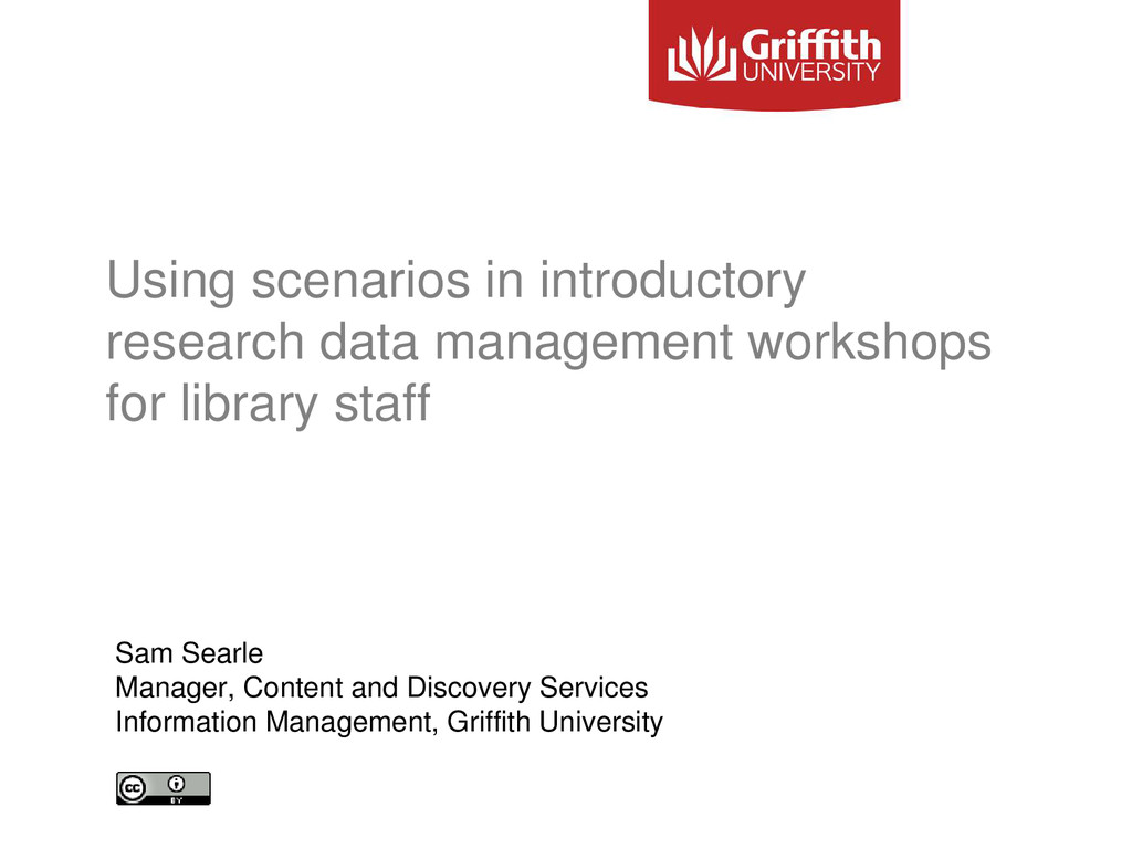 Using scenarios in introductory research data m...