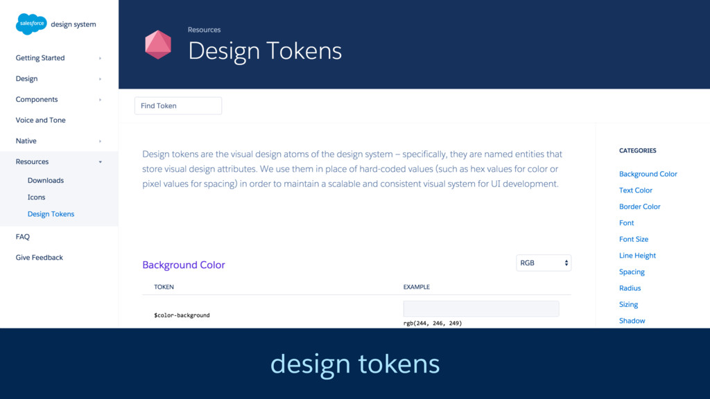 design tokens