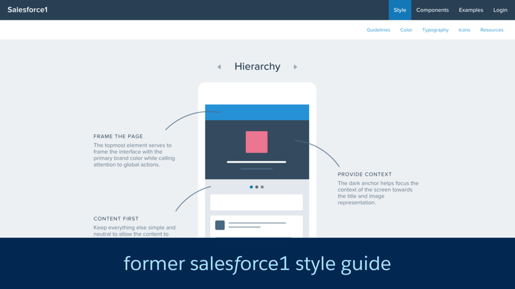 former salesforce1 style guide