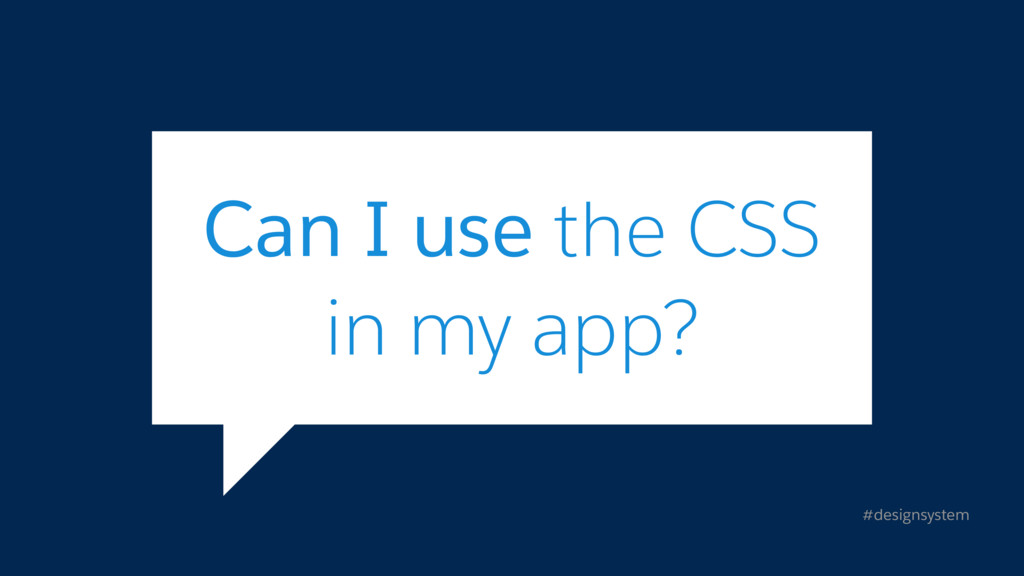 #designsystem Can I use the CSS
