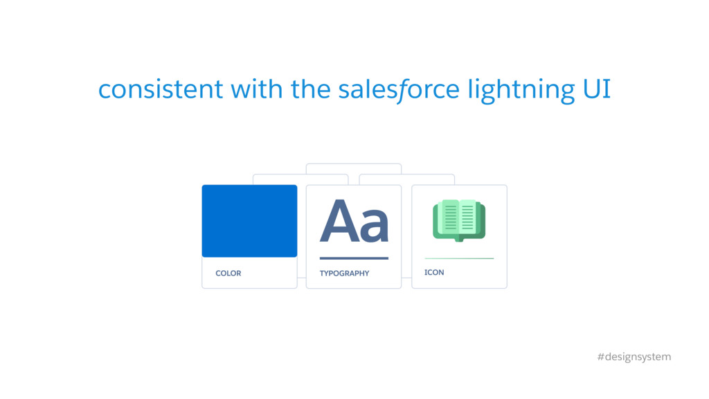 consistent with the salesforce lightning UI #de...