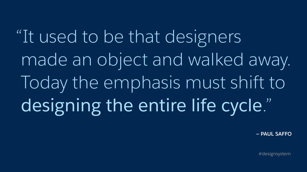 """It used to be that designers 