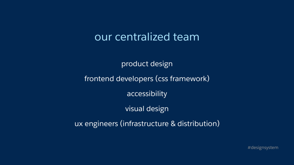 our centralized team product design frontend de...