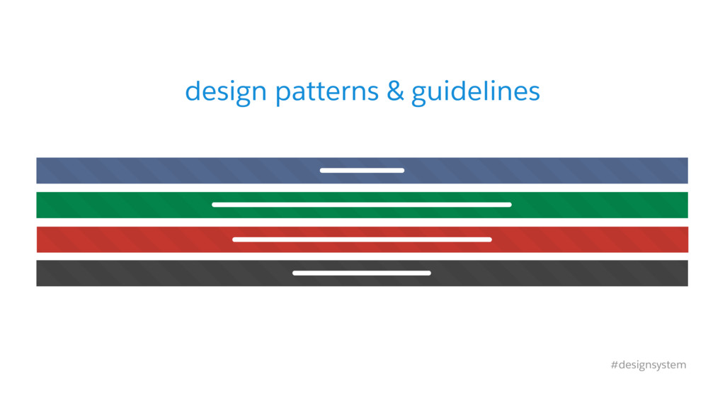 design patterns & guidelines #designsystem