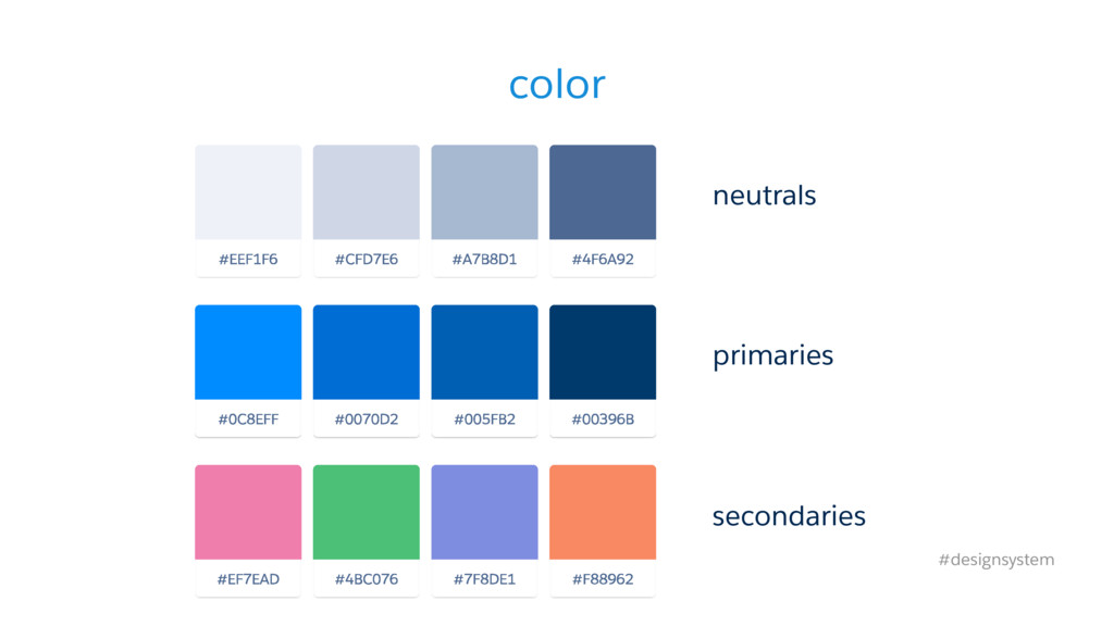 color neutrals #designsystem primaries secondar...