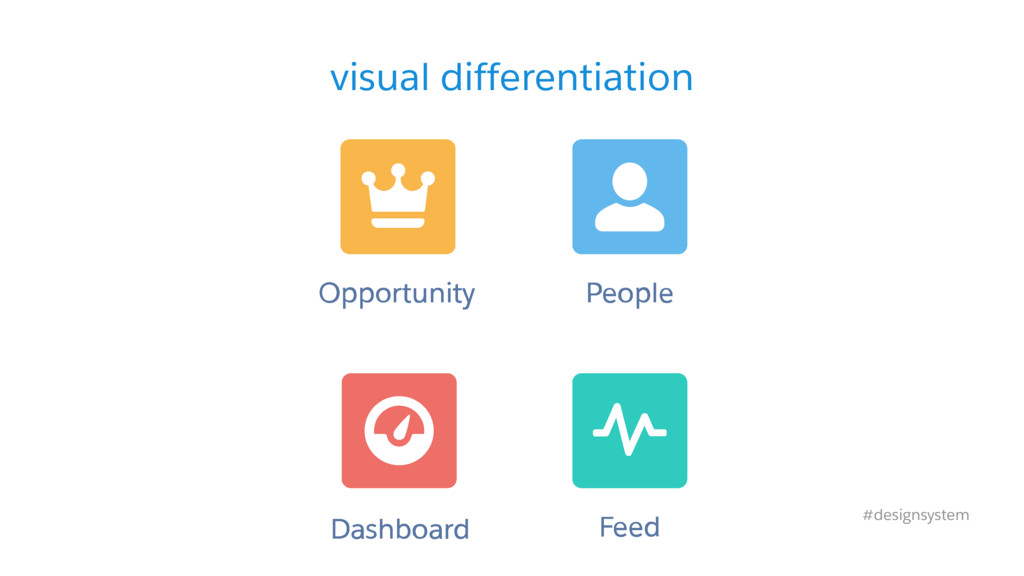visual differentiation #designsystem