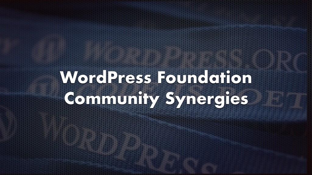 WordPress Foundation Community Synergies