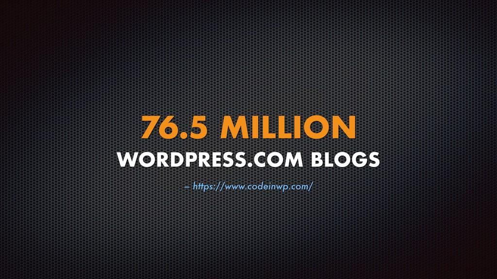 – https://www.codeinwp.com/ 76.5 MILLION WORDPR...