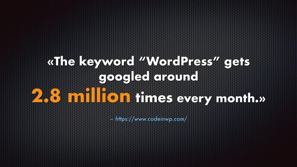 "– https://www.codeinwp.com/ «The keyword ""WordP..."