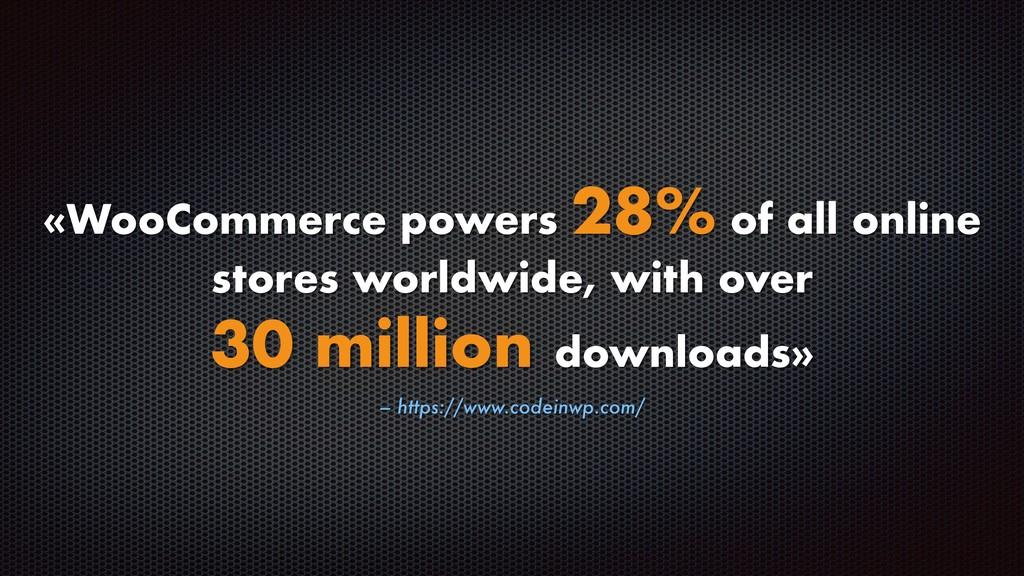 – https://www.codeinwp.com/ «WooCommerce powers...