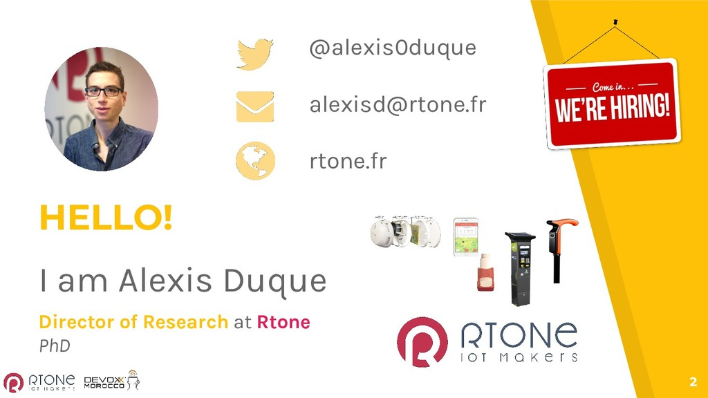 2 HELLO! I am Alexis Duque Director of Research...