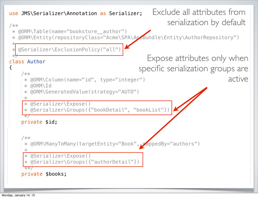 Exclude all attributes from serialization by de...