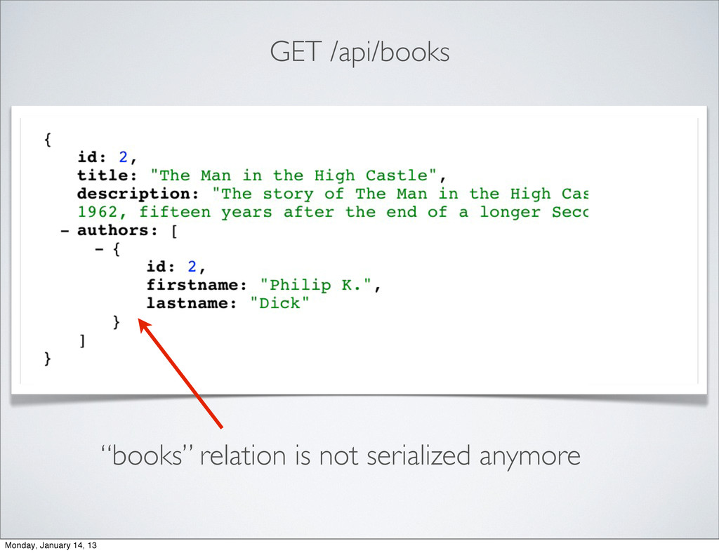 "GET /api/books ""books"" relation is not serializ..."