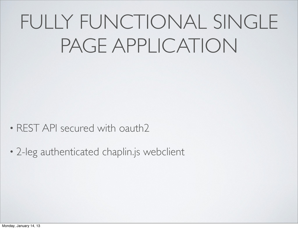 FULLY FUNCTIONAL SINGLE PAGE APPLICATION • REST...
