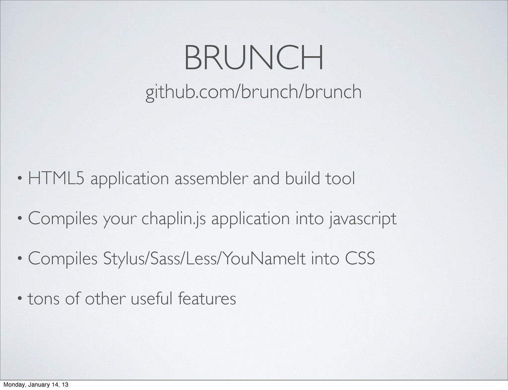 BRUNCH • HTML5 application assembler and build ...