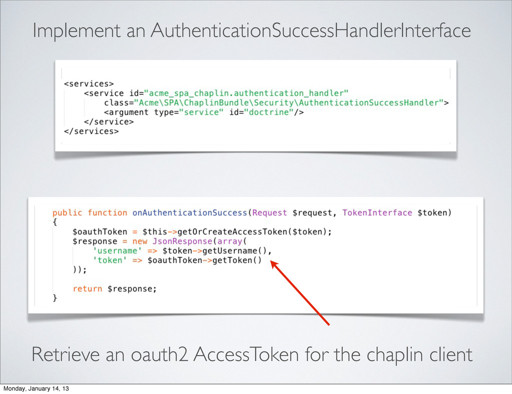 Implement an AuthenticationSuccessHandlerInterf...