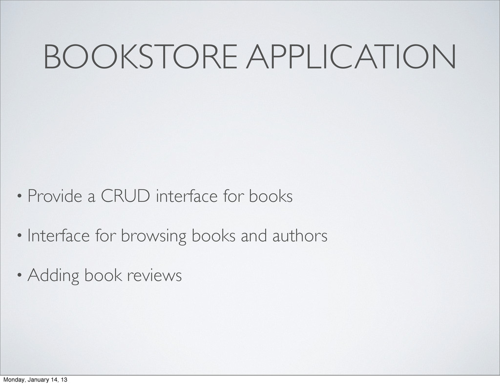 BOOKSTORE APPLICATION • Provide a CRUD interfac...