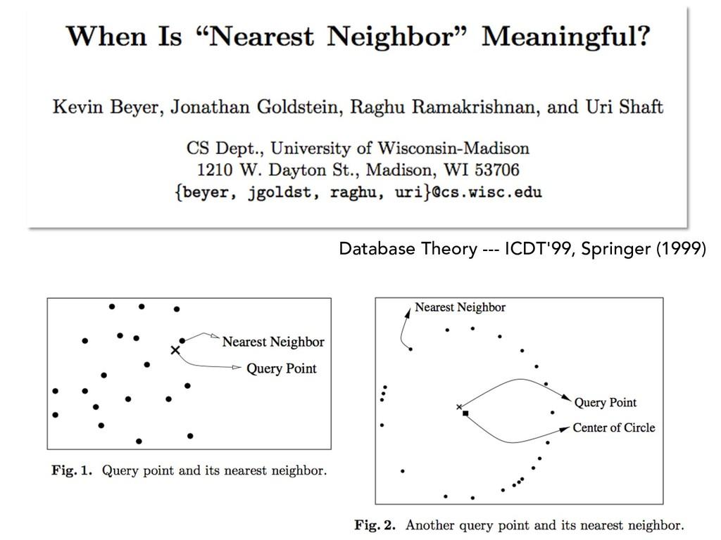 Database Theory --- ICDT'99, Springer (1999)