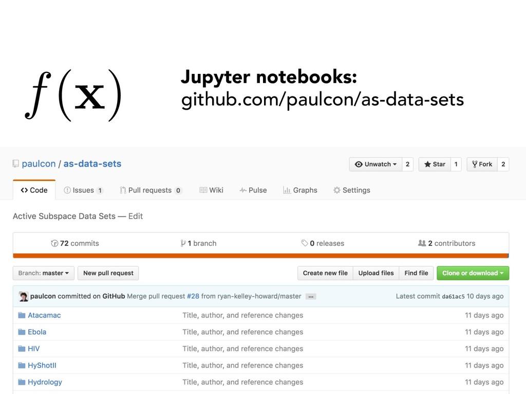 f( x ) Jupyter notebooks: github.com/paulcon/as...